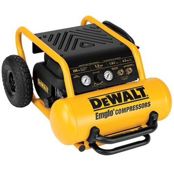 Dewalt D55146R 1.6 HP 4.5 Gallon Oil-Free Wheeled Portable Air Compressor